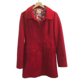 Tulle Clothing Cherry Red Pea Coat